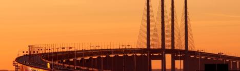 Oresund Bridge that connects Denmark and Sweden