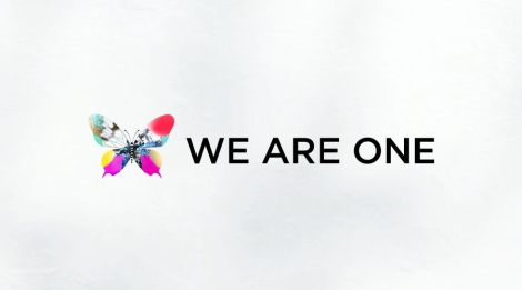ESC 2013 Theme Art with Slogan 'We Are One'
