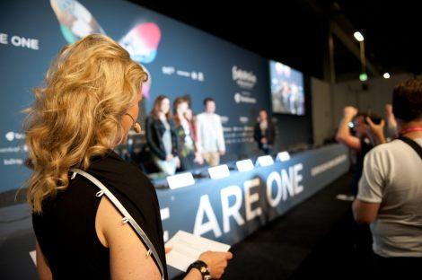 Eurovision rehearsals press center