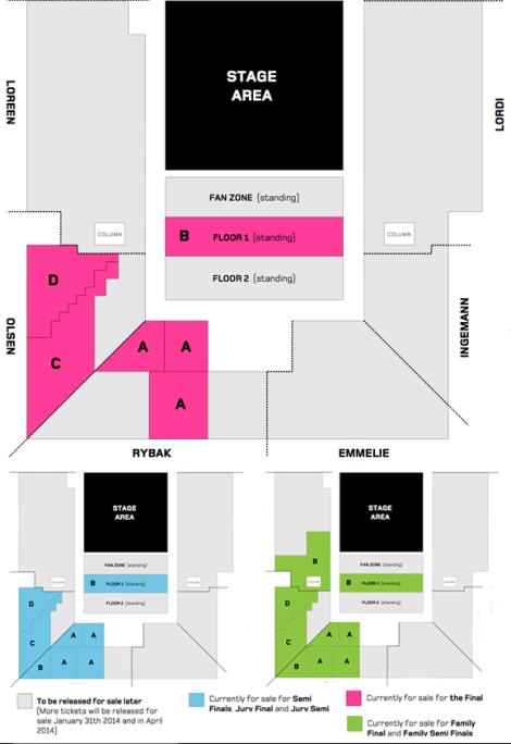 Eurovision 2014 seat plan