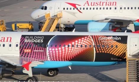 OE-LBS Eurovision plane
