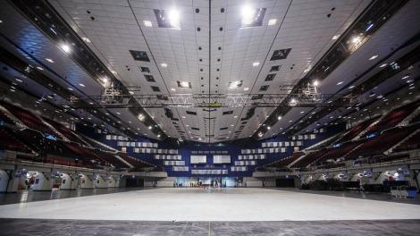 ESC2015 Aufbau Stadthalle
