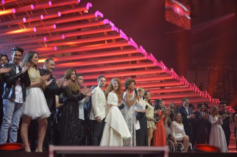 Eurovision 2015 second semi-final participants on stage